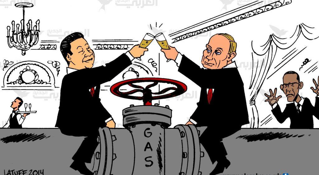 Си договаривается с Путиным. Источник: latuffcartoons.wordpress.com