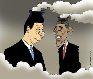 Си договаривается с Обамой о квотах на загрязнение. Источник: en.kichka.com