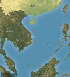 Китайская «линия девяти пунктиров». Фото: stratfor.com