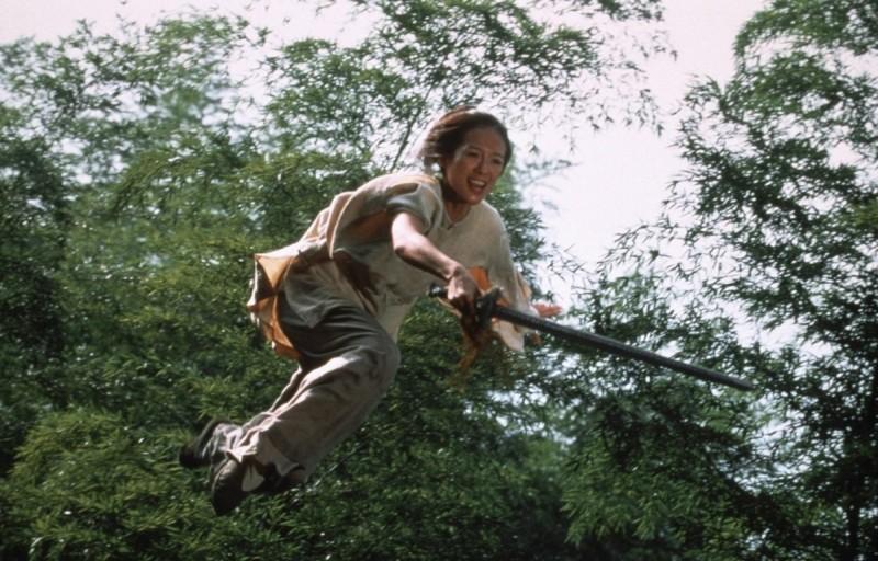 Кадр из фильма «Крадущийся тигр, затаившийся дракон» (2000), реж. Энг Ли