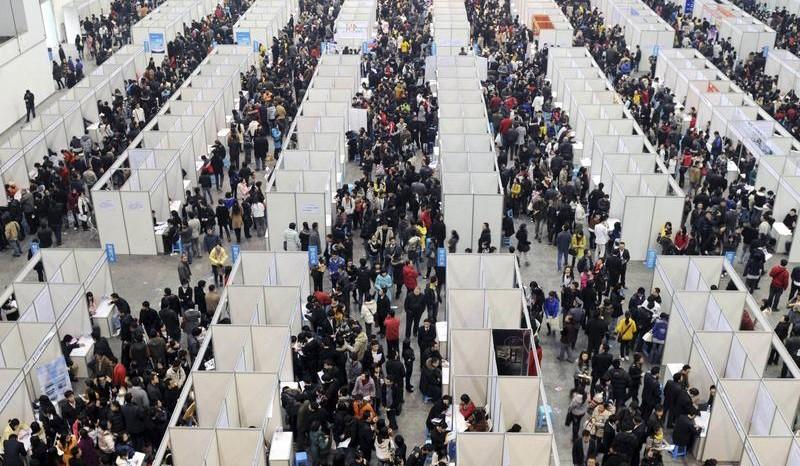Ярмарка вакансий в Китае... Без комментариев. Фото mandarinhouse.com