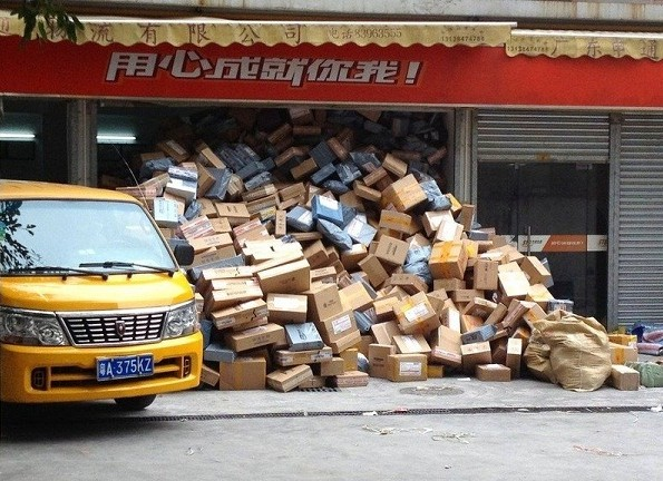 Склад посылок в Китае. Фото: sporov.net