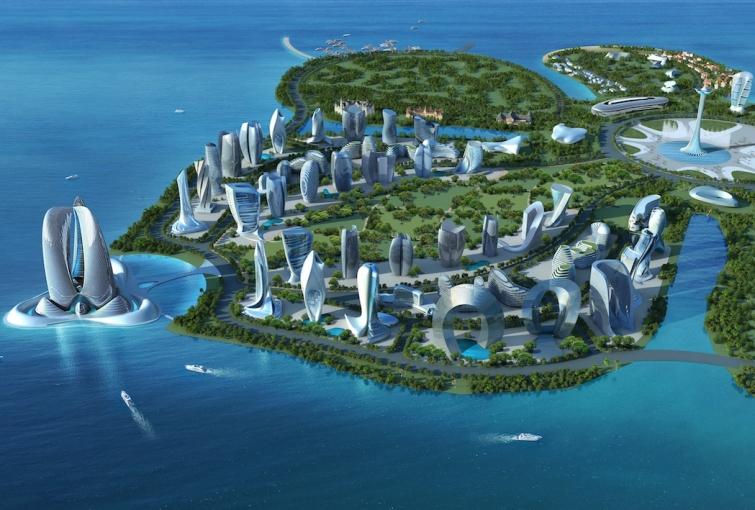 Дизайн отелей задуман на основе «простой естественной геометрии капли воды». Фото: l-a-v-a.net