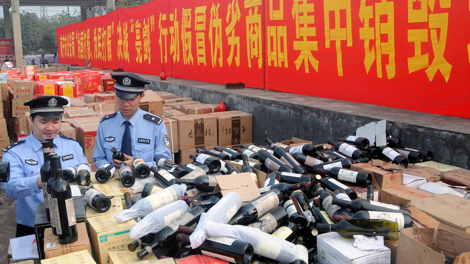 Отдельная тема для разговора поддельный винный контрафакт в Китае. Фото: winespectator.com