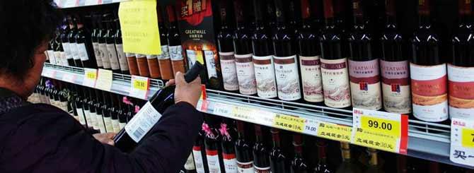 Средние цены на вино в Китае. Фото: wine-searcher.com