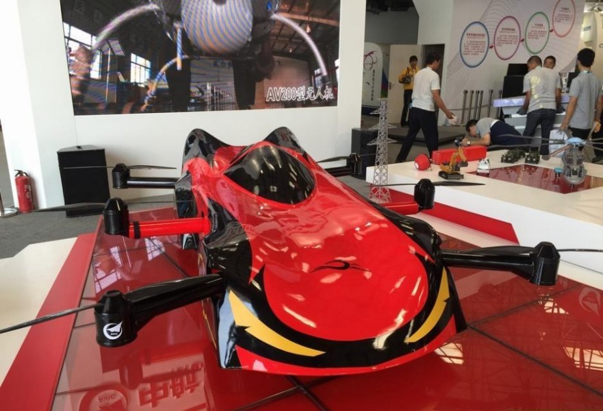 В 2015 году Китай продемонстрировал «летающий автомобиль» под названием «Парус». Фото: thenanfang.com