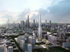 530-метровый небоскреб в Тяньцзине