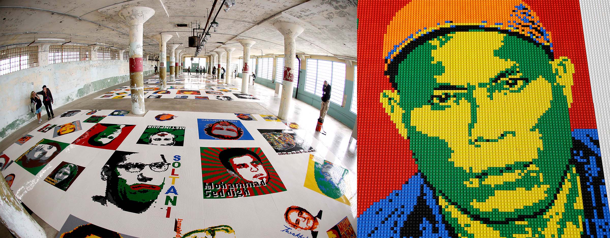 Проект с Lego Ай Вэй Вэй организовывал в тюрьме Алькатрас