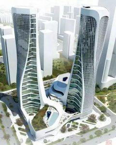 «Волнообразные» башни-близнецы в Ханчжоу