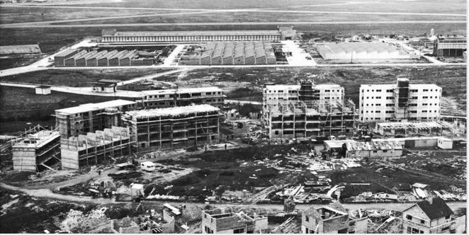 Строительство квартир для работников свободной экономической зоны в Шанноне (1960 г.)