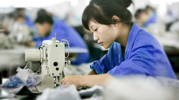 Textile factories of China