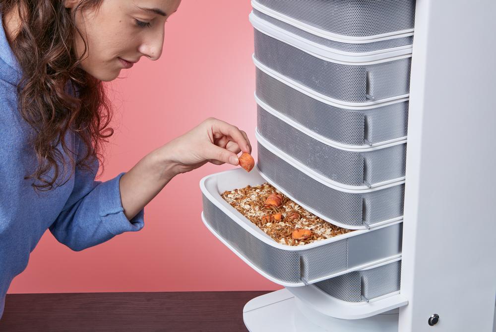 «Вы можете кормить червей остатками со стола!», - гласит реклама Livin Farms. Фото: livinfarms.com
