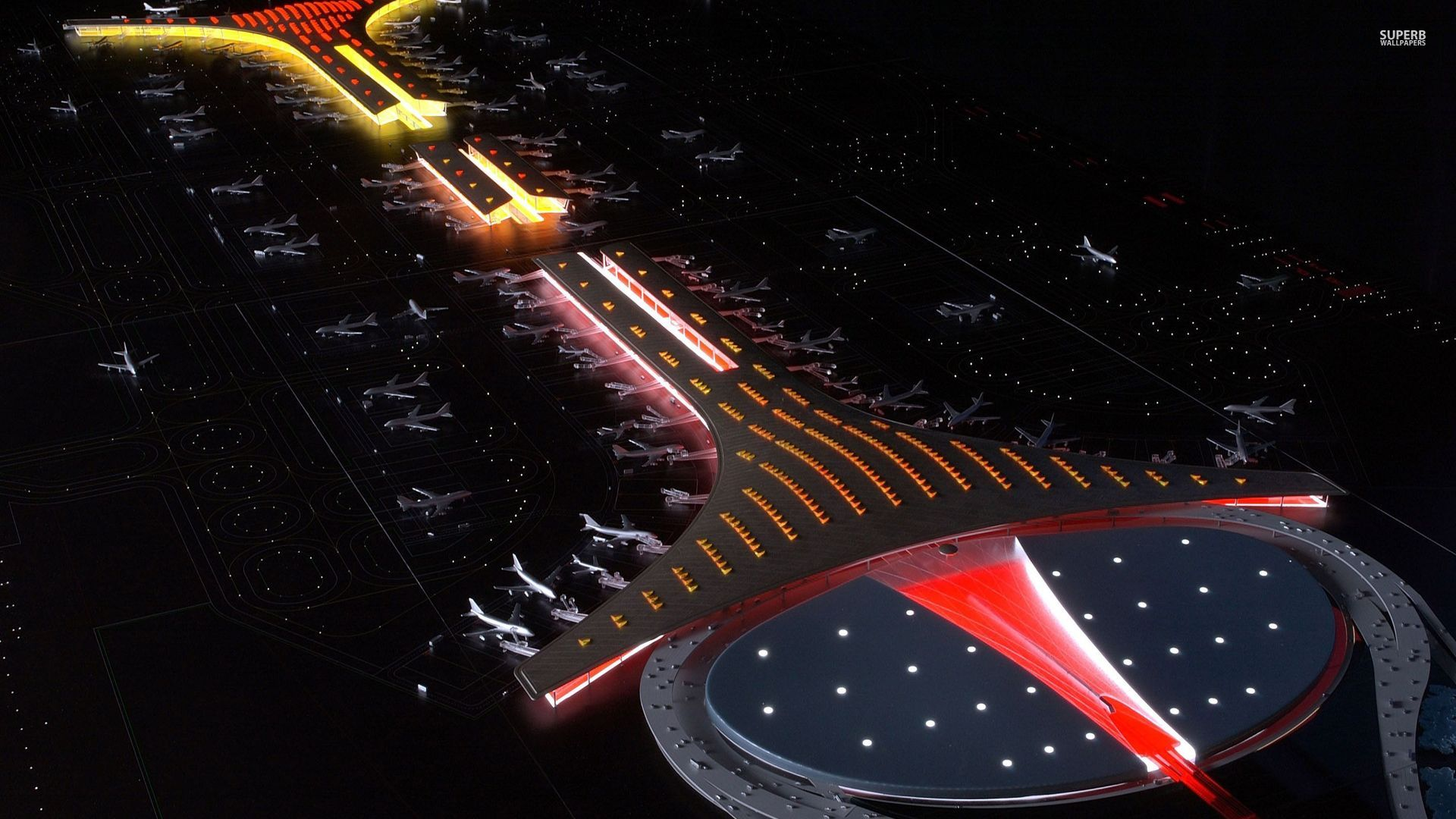 Beijing-Capital-International-Airport-Night-Flight-Travel-China