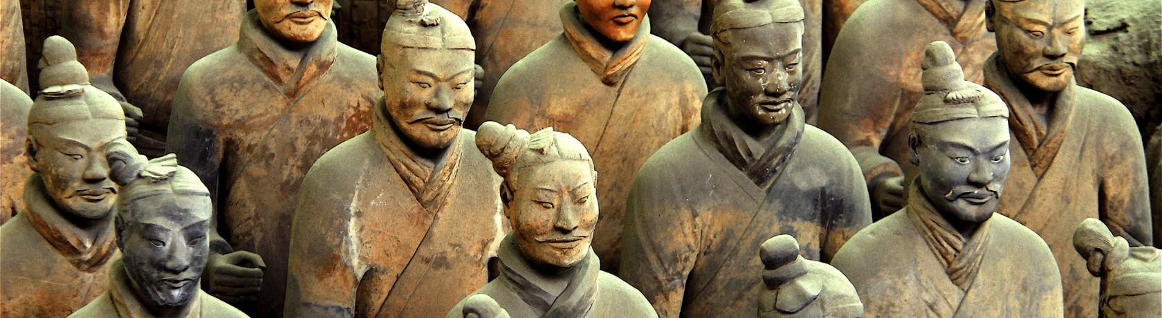 Терракотовая китайская армия. Фото: roughguides.com