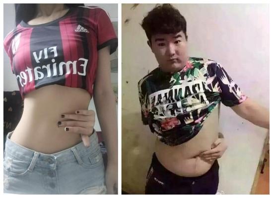 Один и тот же челлендж в Китае. Одно и то же исполнение. Но какая разница! Фото: ntjoy.com