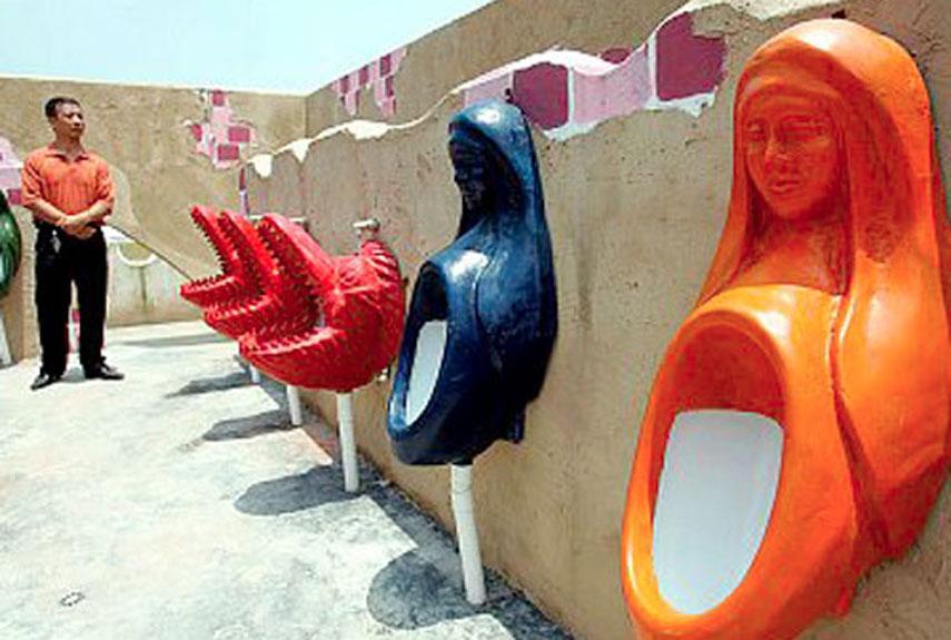 Яркие и красивые, как леденцы, китайские туалеты! Фото: popularmechanics.com