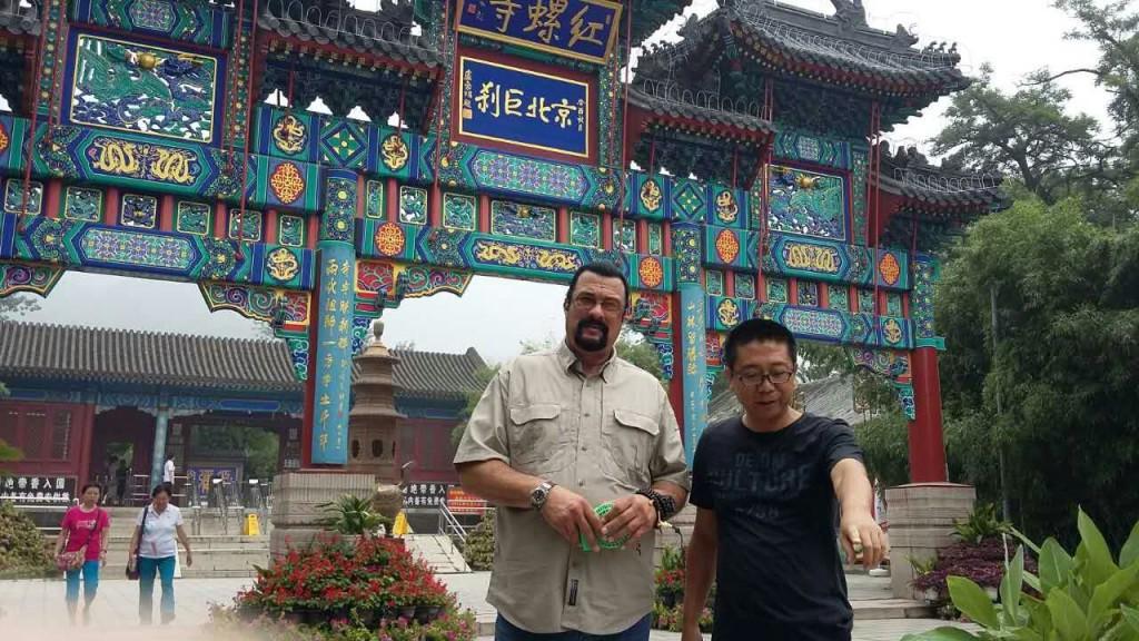 Стивен Сигал в Пекине