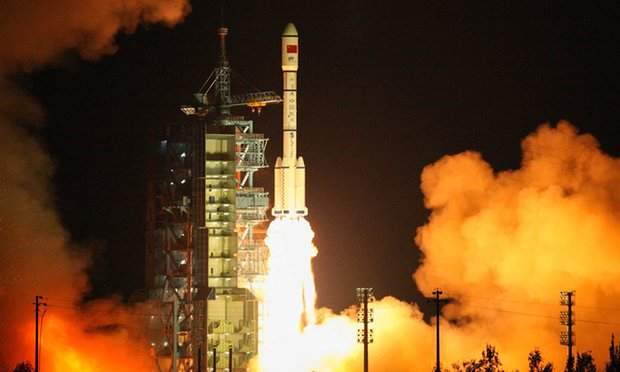 Космодром Цзюцюань, 15.09. Запуск космической станции «Тяньгун-2». Фото: VCG/VCG/Getty Images