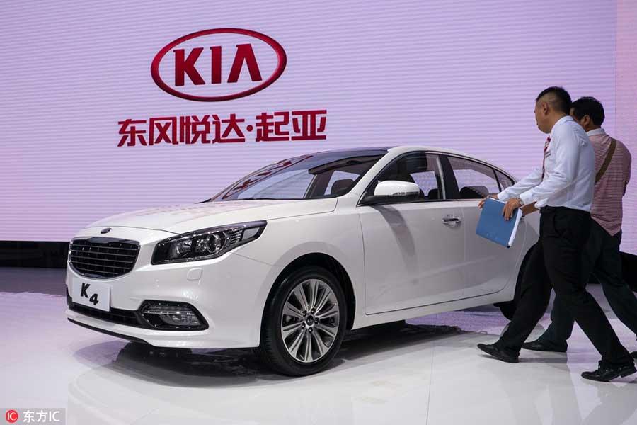 Kia K4 на автошоу в Чэнду,29 августа 2014 года