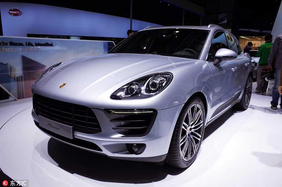 Porsche Macan на 13-м Пекинском международном автосалоне Auto China 2014, 20 апреля 2014 года