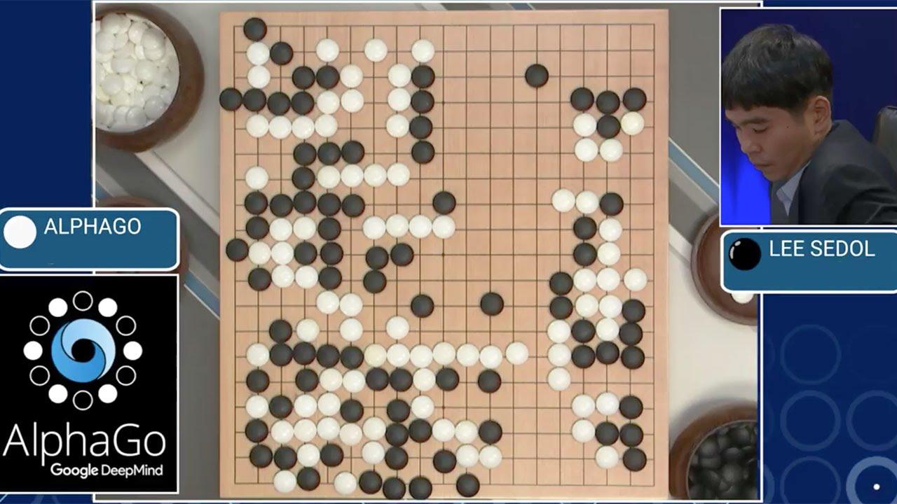 Фрагмент матча AlphaGo против Ли Седоля. Источник: ytimg.com