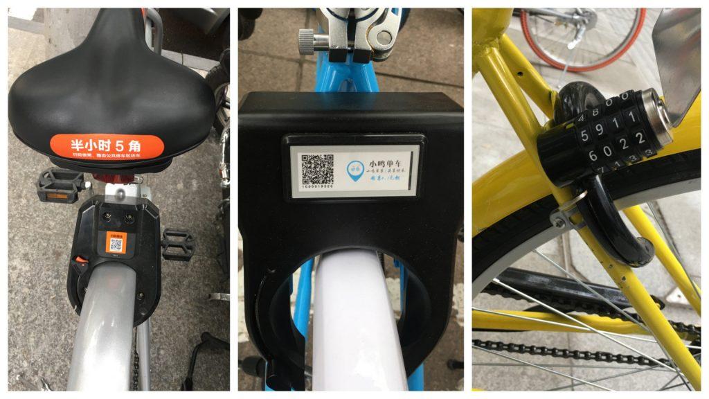 Mobike и Xiaoming отпираются посредством QR-кода. Фото: Emma Lee