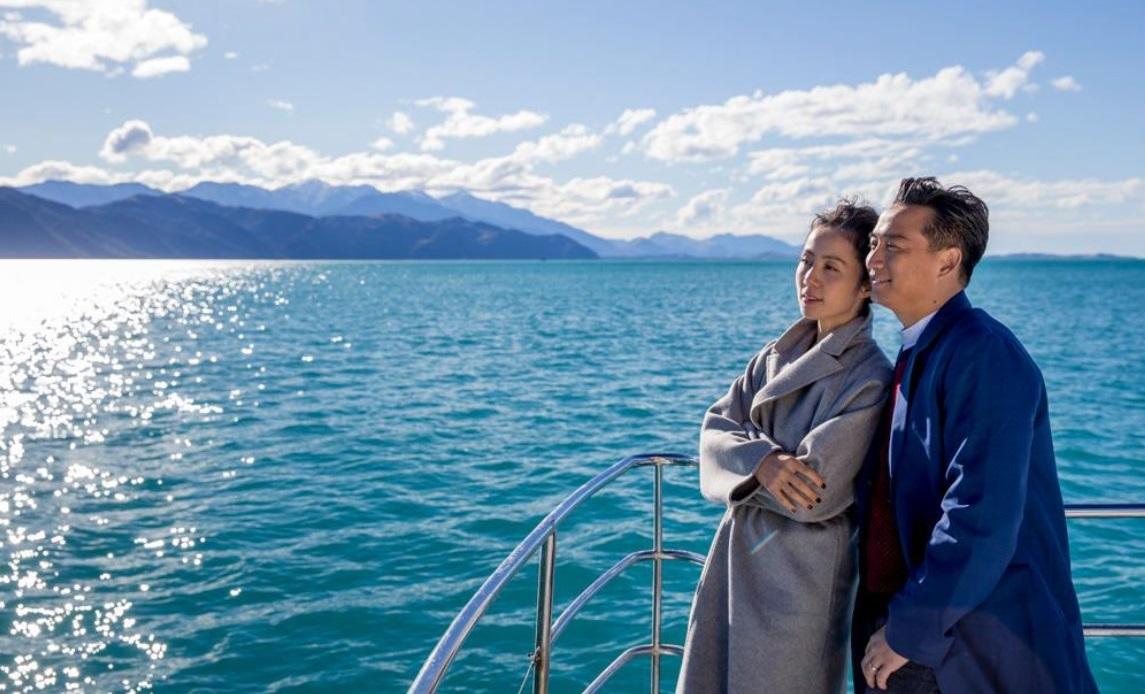 Китайский блогер Хуан Лэй с женой во время тура в Новой Зеландии. Фото: tourismnewzealand.com