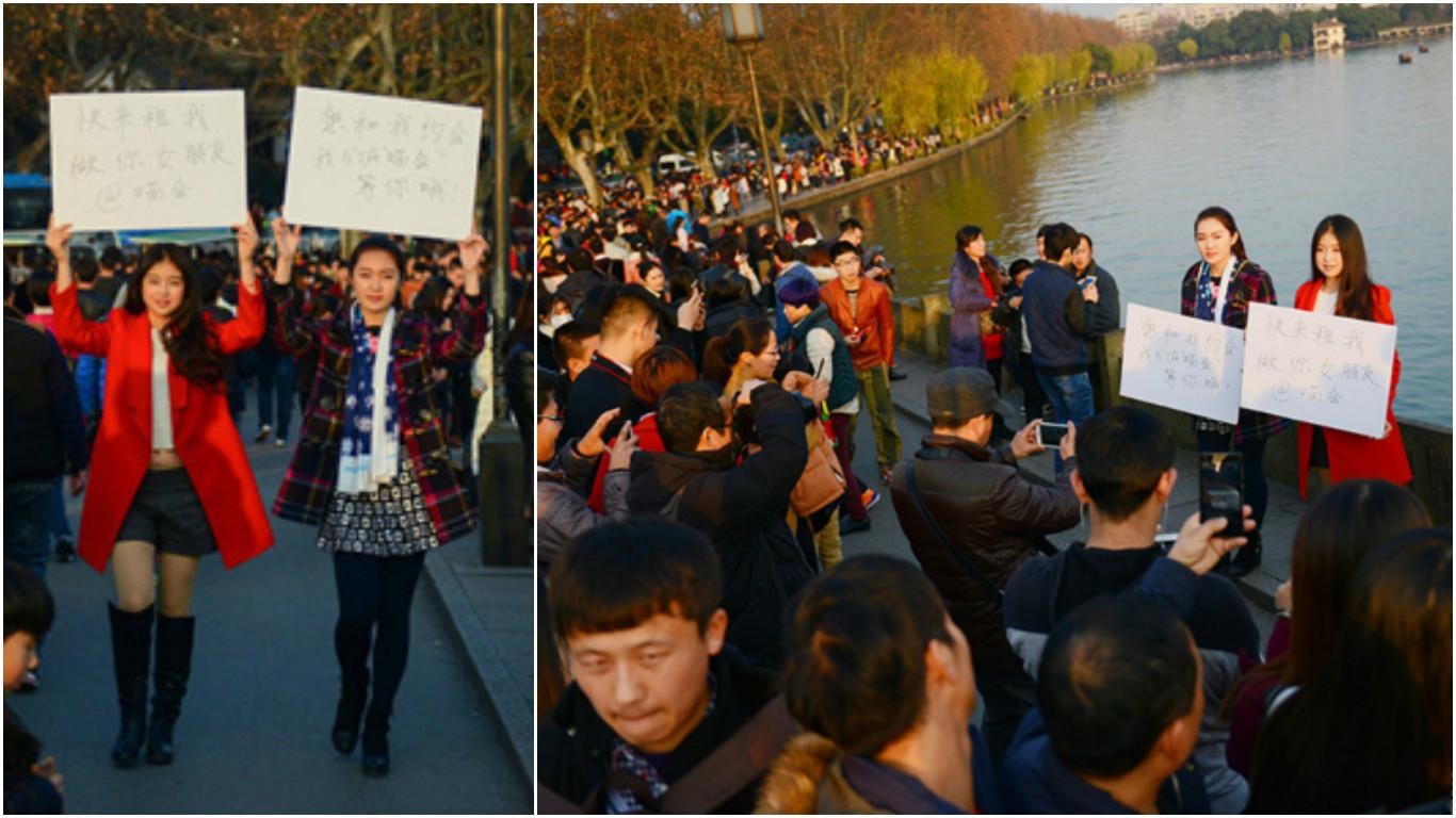 Студентки в Ханчжоу сдают себя в аренду. Фото via NetEase
