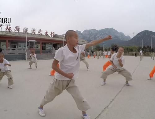 Лаовайтур в школе кунг-фу у подножия монастыря Шаолинь
