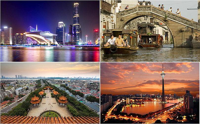 Десять наиболее урбанизированных городов материкового Китая
